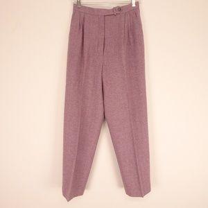 Pendleton 100% Wool Pants Chevron Maroon - Wmns 8